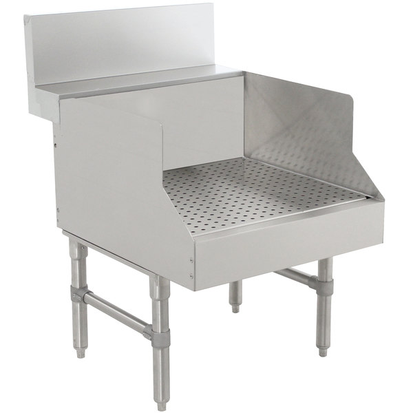 "Advance Tabco PRGS-24-18 Prestige Series Stainless Steel Recessed Bar Drainboard - 18"" x 30"""