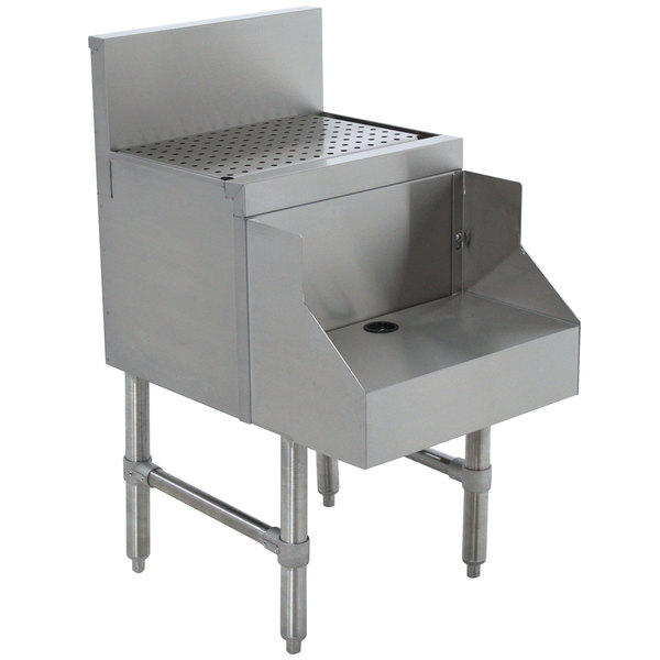 "Advance Tabco PRDB-19-18 Prestige Series Stainless Steel Underbar Blender Station with Drainboard - 18"" x 25"" Main Image 1"