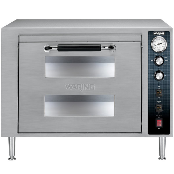 Waring WPO700 Double Deck Countertop Pizza Oven - 240V Main Image 1