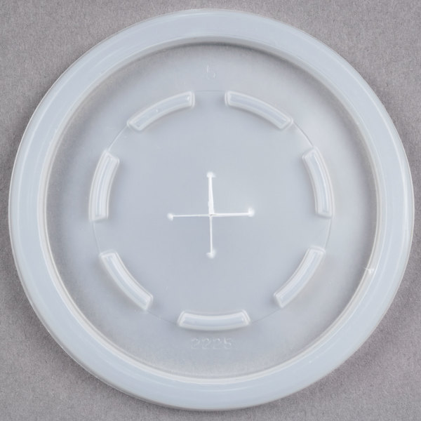 Dinex DX2225ST9000 Translucent Disposable Lid with Straw Slot for 8 oz. Tumbler - 2000/Case