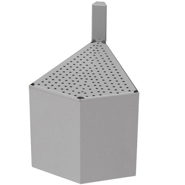 "Advance Tabco PRF-20-45OC 20"" x 20"" Prestige Series Stainless Steel Outside Corner Underbar Filler - 45 Degree Angle"