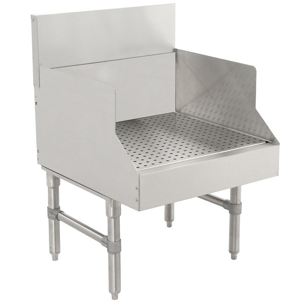 """Advance Tabco PRGS-19-12 Prestige Series Stainless Steel Recessed Bar Drainboard - 12"""" x 25"""" Main Image 1"""