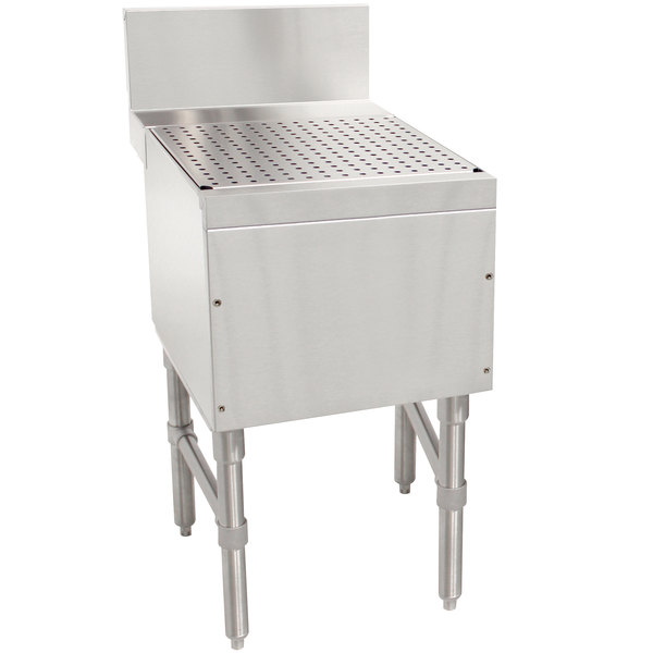 """Advance Tabco PRD-24-12 Prestige Series Stainless Steel Free-Standing Bar Drainboard - 12"""" x 25"""" Main Image 1"""