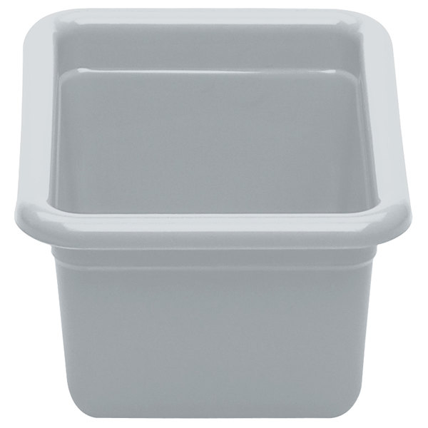 "Cambro 912CBP180 12"" x 9"" x 5"" Light Gray Polyethylene Plastic Utility Box"