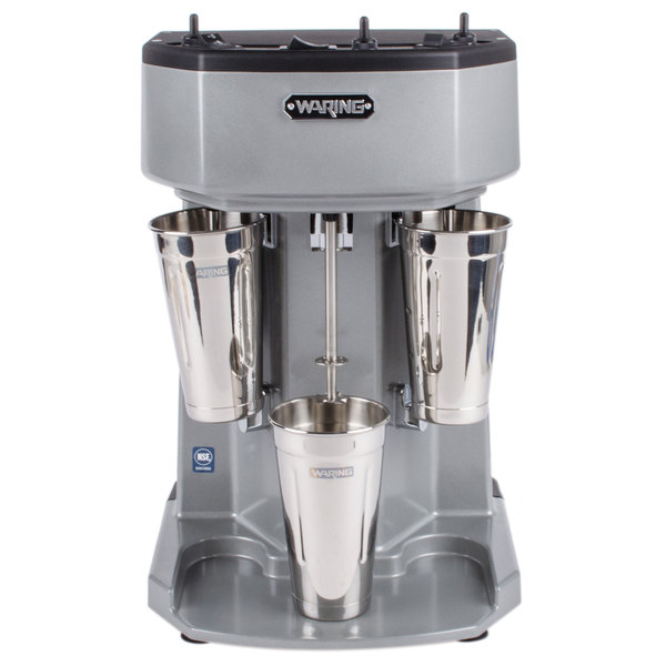 Waring WDM360T Triple Spindle Three Speed Drink Mixer with Timer - 120V
