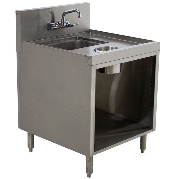 "Advance Tabco PRWC-19-18 Prestige Series Stainless Steel Sink Cabinet with Waste Chute - 18"" x 25"" Main Image 1"