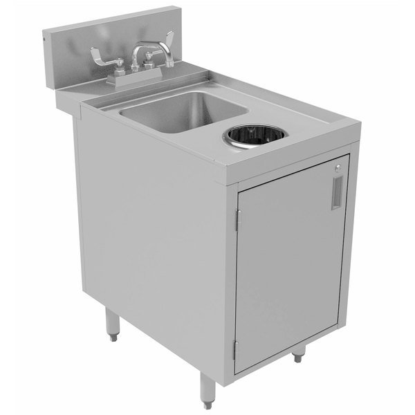 "Advance Tabco PRWC-24-18-DR Prestige Series Stainless Steel Sink Cabinet with Door Waste Chute - 18"" x 30"""