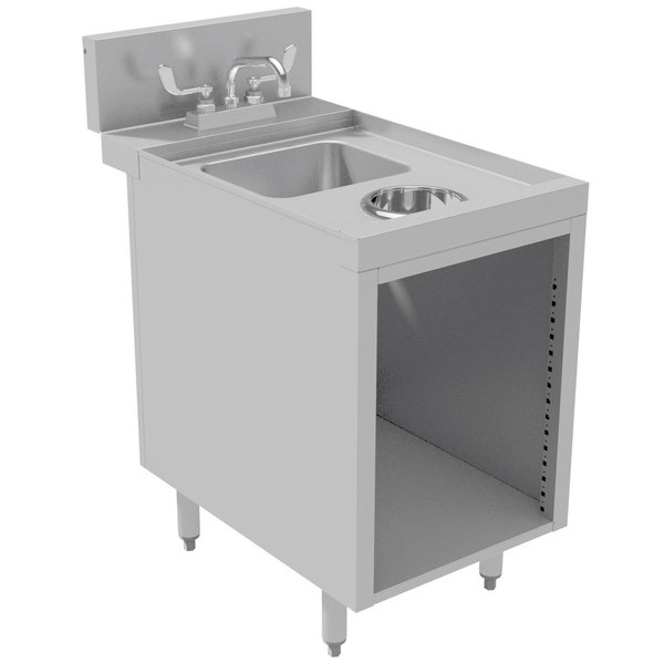 """Advance Tabco PRWC-24-18 Prestige Series Stainless Steel Sink Cabinet with Waste Chute - 18"""" x 30"""""""