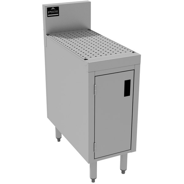 """Advance Tabco PRSCD-19-18 Prestige Series Enclosed Stainless Steel Drainboard Cabinet with Doors - 18"""" x 25"""""""