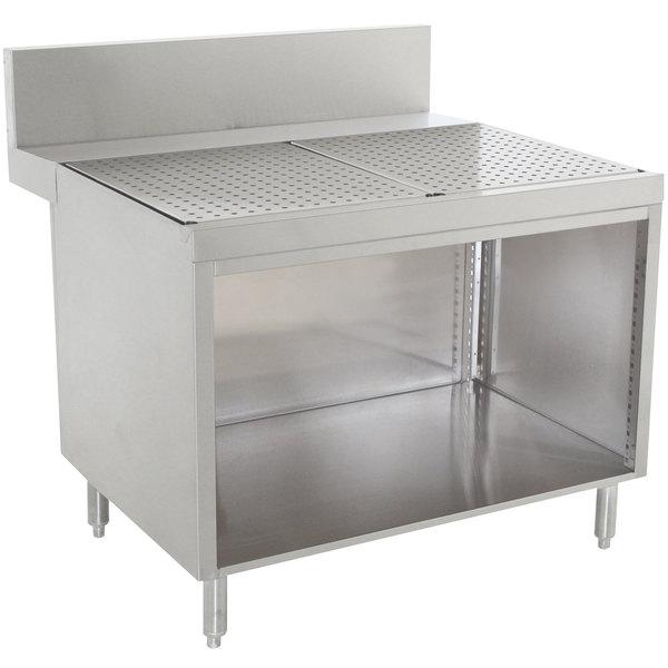 "Advance Tabco PRSCO-24-18 Prestige Series Open Base Stainless Steel Drainboard Cabinet - 18"" x 30"" Main Image 1"