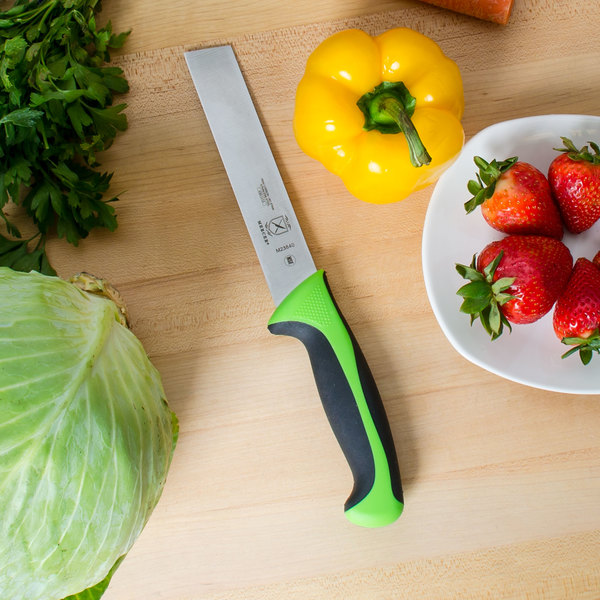 "Mercer Culinary M23840 Millennia 6"" Produce Knife with Green Handle"