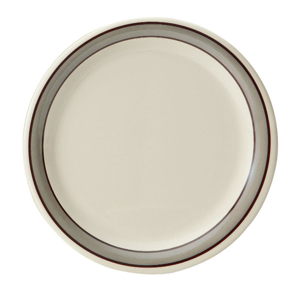 "GET WP-7-CA 7 1/2"" Diamond Cambridge Wide Rim Plate - 48/Case"