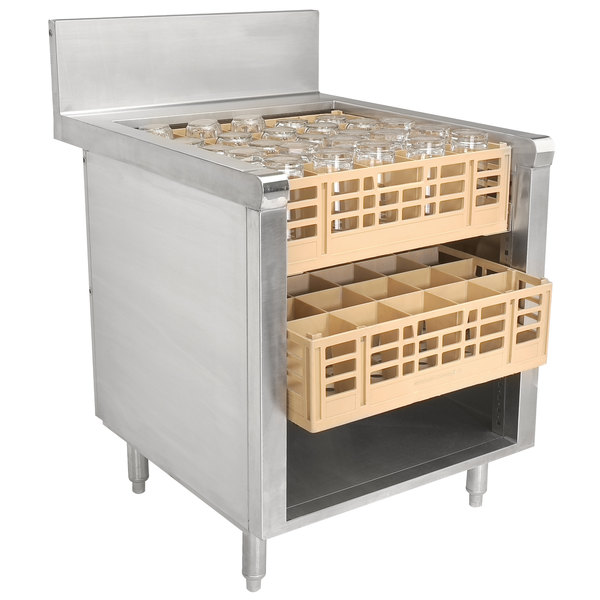 "Advance Tabco PROR-24-24 Prestige Series 24"" x 30"" Stainless Steel Glass Rack Storage Cabinet with Open Top"