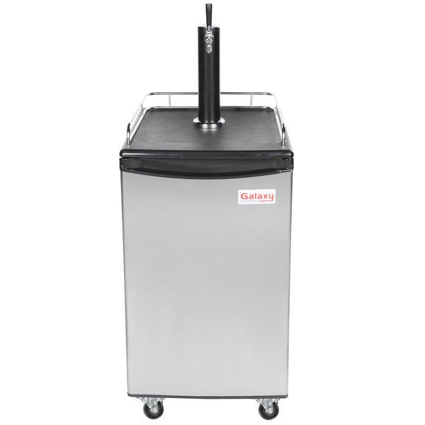 Galaxy Single Tap Kegerator Beer Dispenser - Stainless Steel, (1) 1/2 Keg Capacity