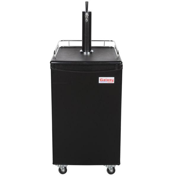 Galaxy Single Tap Kegerator Beer Dispenser - Black, (1) 1/2 Keg Capacity