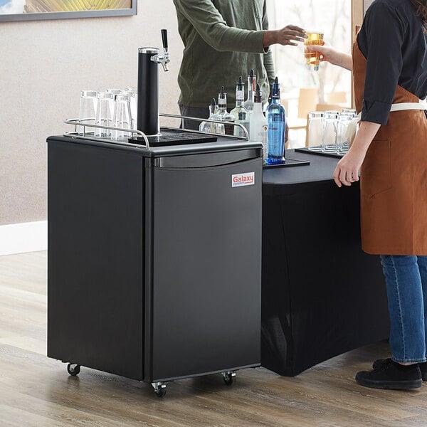 Galaxy Single Tap Kegerator Beer Dispenser - Black, (1) 1/2 Keg Capacity Main Image 5