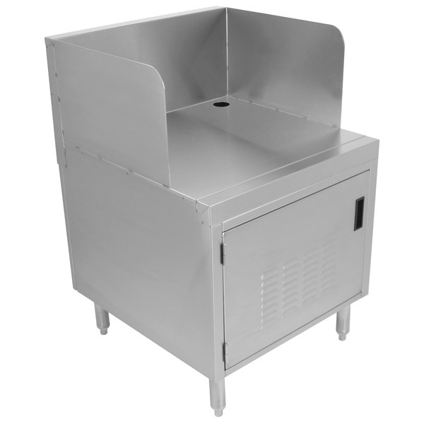 """Advance Tabco PRPOS-24-DR Prestige Series 24"""" Stainless Steel Underbar Point of Service Cabinet Main Image 1"""