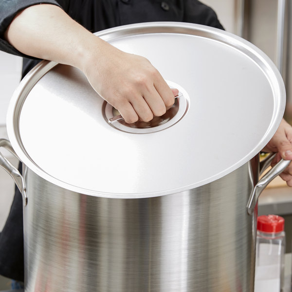 """Vollrath 77702 Stainless Steel Pot / Pan Cover - 16"""" Main Image 6"""