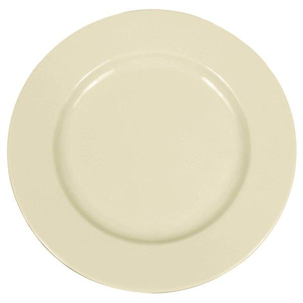 "Elite Global Solutions D1025C Cottage Vintage California 10 1/2"" Vanilla Round Rim Melamine Plate"