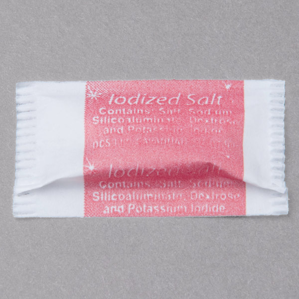Salt .6 Gram Portion Packet - 3000/Case