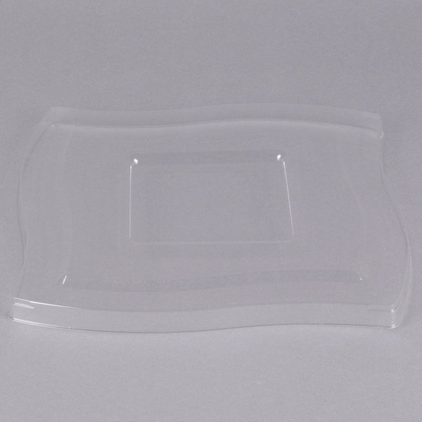 Fineline Wavetrends 128-L Clear PET Flat Lid for 128 oz. Serving Bowl - 48/Case Main Image 1