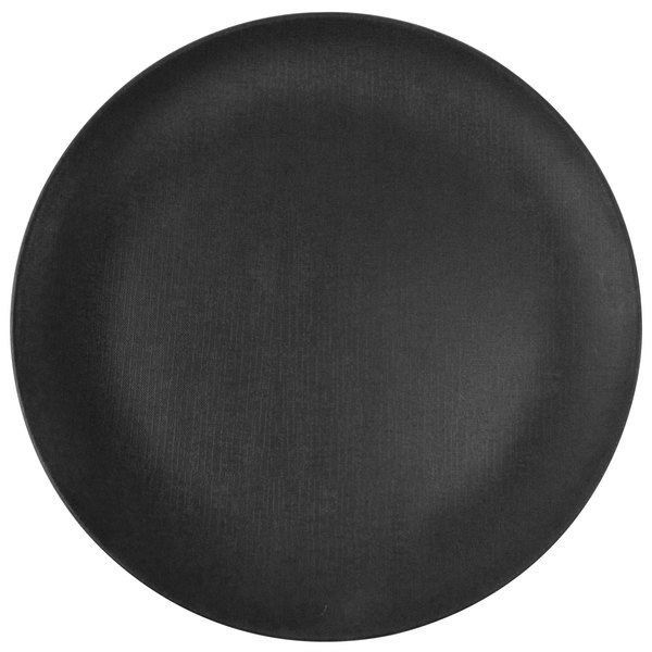 "Elite Global Solutions ECO1111R Greenovations 11"" Black Round Plate - 6/Case"