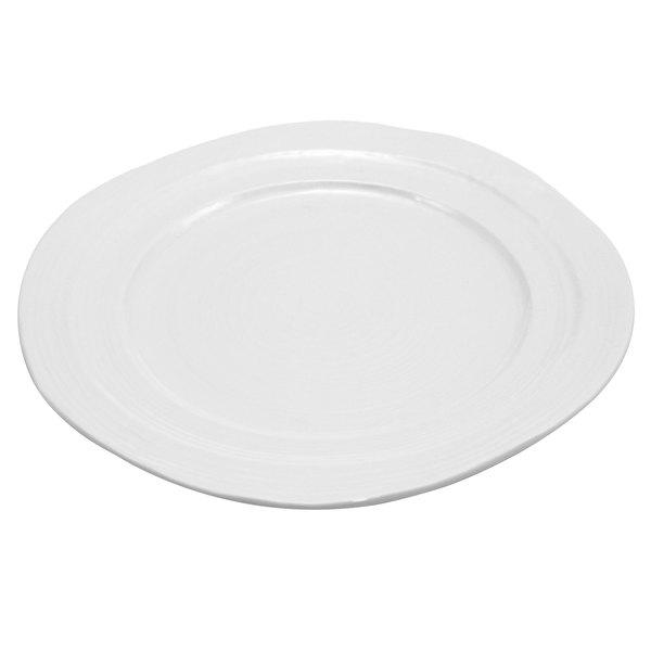 """Elite Global Solutions D101 Della Terra 10"""" White Irregular Round Melamine Plate"""