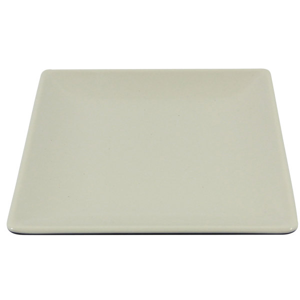 "Elite Global Solutions JW552T Karma 5"" Ebony Sand Square Two-Tone Melamine Plate - 6/Case"