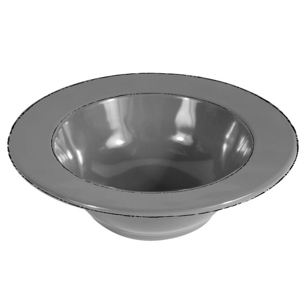 Elite Global Solutions DB6T Trestles Vintage California 10 oz. Gray Round Double-Line Bowl - 6/Case