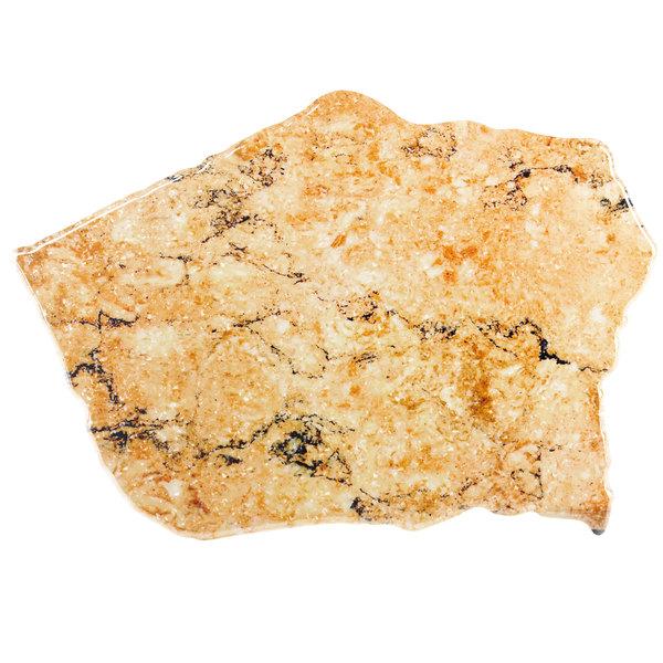 """Elite Global Solutions QS2316 Fo Granite Rust Granite 23"""" x 16"""" Irregular Shape Display Stone Platter"""