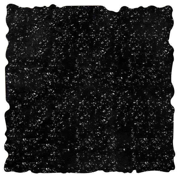 """Elite Global Solutions QS2424 Rocky Mountain High Black Granite 23 3/4"""" Square Shape Riser Platter"""