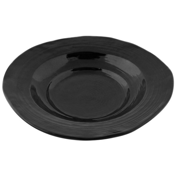 Elite Global Solutions DB925 Della Terra 12 oz. Black Irregular Round Bowl