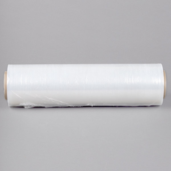 "Lavex Industrial 18"" x 1476' 70 Gauge Equivalent Cast Pallet Wrap Film / Stretch Film - 4/Case"