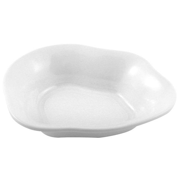 Elite Global Solutions DB615 Freeform 8 oz. White Irregular Edge Melamine Bowl - 6/Case Main Image 1