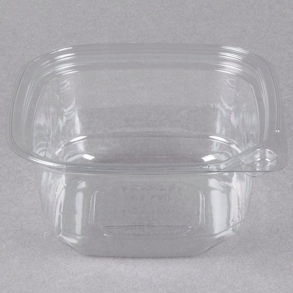 12 oz. Square Recycled PET Deli Container - 400/Case