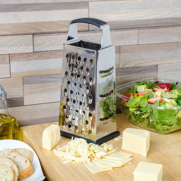 "Tablecraft SG205BH 9"" 4-Sided Heavy-Duty Stainless Steel Box Grater"
