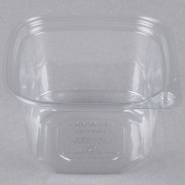 16 oz. Square Recycled PET Deli Container - 400/Case