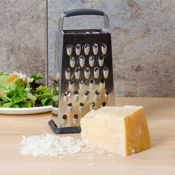 "Tablecraft SG203BH 6"" 4-Sided Heavy-Duty Stainless Steel Box Grater"