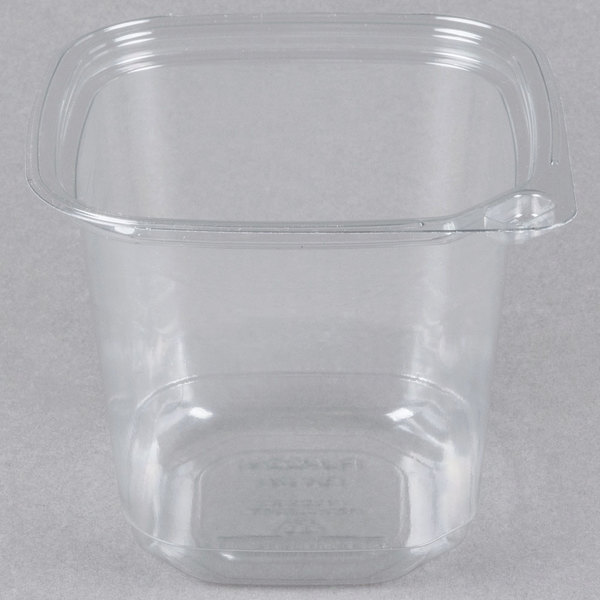 24 oz. Square Recycled PET Deli Container  - 400/Case
