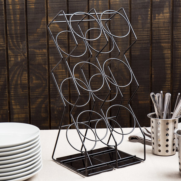 Cal-Mil 1025-6-13 Black Wire 6-Cylinder Vertical Flatware / Condiment Display Main Image 6