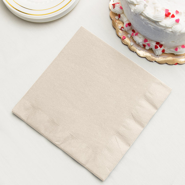 Ivory Paper Dinner Napkin, 3-Ply - Creative Converting 59161B - 250/Case