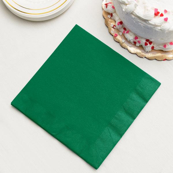 Emerald Green 3-Ply Dinner Napkins, Paper - Creative Converting 59112B - 250/Case