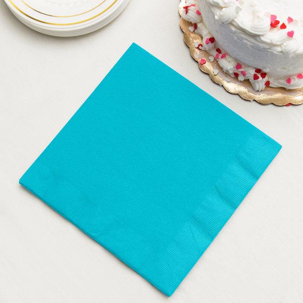 Bermuda Blue 3-Ply Dinner Napkins, Paper - Creative Converting 591039B - 250/Case