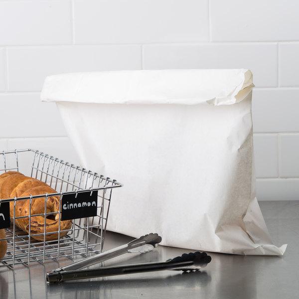 """17"""" x 24"""" White Merchandise Bag - 500/Bundle"""