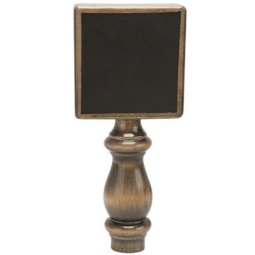 """Micro Matic 5300 7 1/2"""" TapBoard Solid Walnut Beer Tap Handle with Single-Sided Chalkboard"""