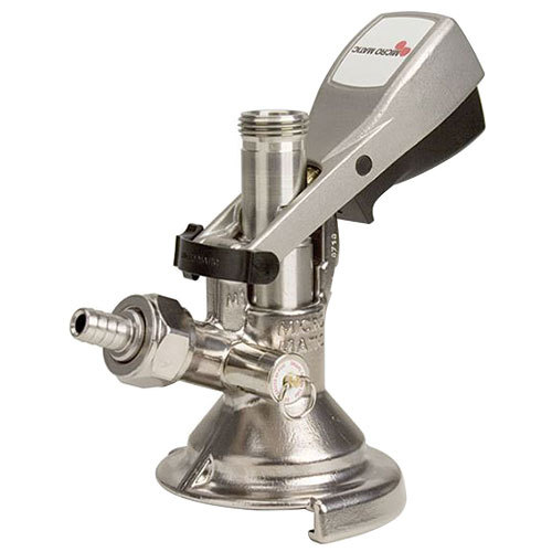 "Micro Matic DH1501 ""A"" System Beer Keg Coupler with Black Ergo Lever Handle and Type 304 Stainless Steel Probe"