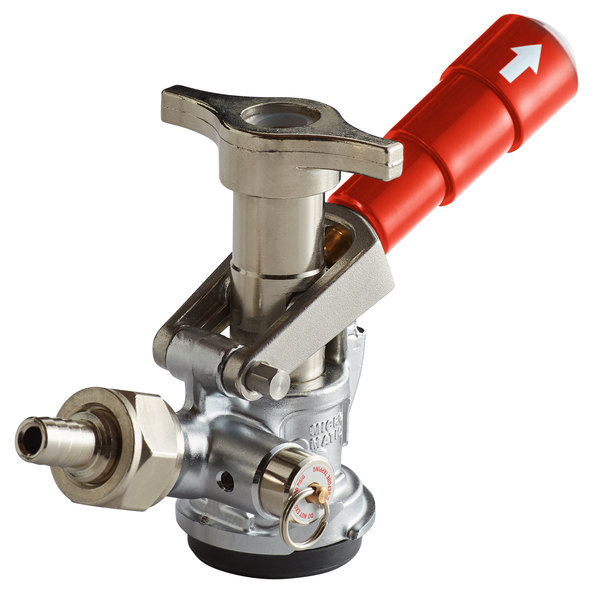 """Micro Matic 7485BB-R """"D"""" System Beer Keg Coupler with Red Lever Handle"""