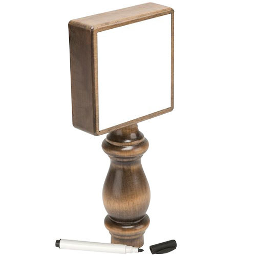 "Micro Matic 5301 7 1/2"" TapBoard Solid Walnut Beer Tap Handle with Single-Sided Dry Erase Board"