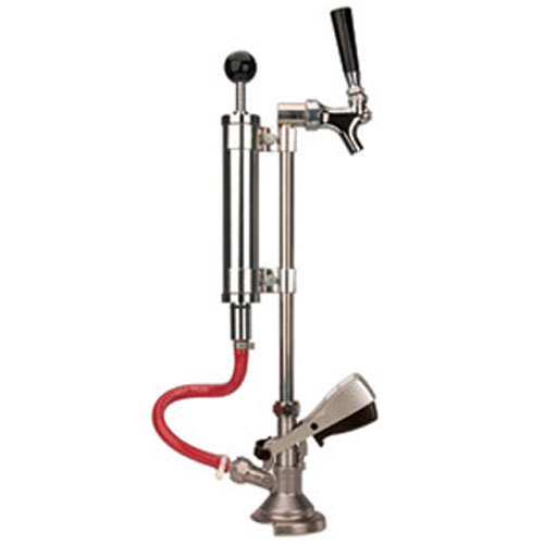 "Micro Matic 751-059J-9 8"" Chrome Supreme Picnic Pump with Lever Handle and Chrome-Plated Faucet - ""A"" System Main Image 1"