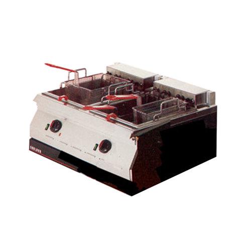 Garland ED-30SFT Designer Series 34 lb. Dual Tank Electric Countertop Super Deep Fryer - 208V, 1 Phase, 16 kW Main Image 1
